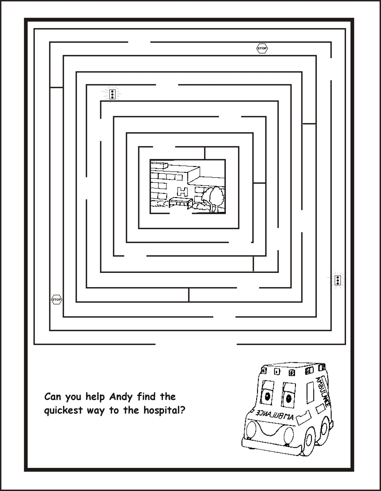 Activities associated ambulance services whitecourt ltd for Emergency coloring pages